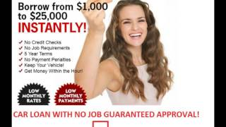 Your Job is Your Credit Auto Loans, Your Job is Your Credit Auto Financing