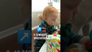9-12 months: variegated babbling