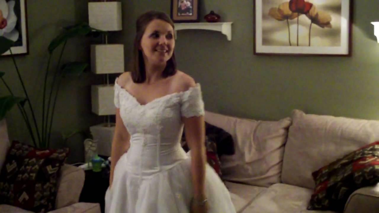 Year anniversary wedding dress youtube