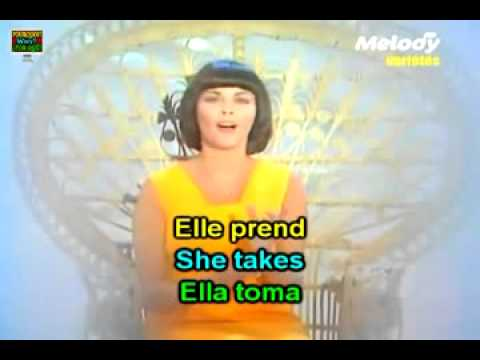 Learn French with songs: Mireille Mathieu, La paloma adieu (Popular Music of France)