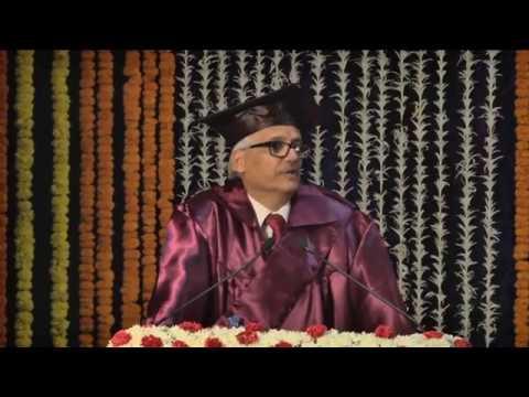 NIA PGDM Convocation 2014-2016 & 2015-2017  Presidential Address by Shri V K Sharma (September 2017)