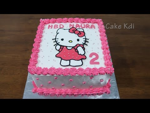 Kue Ulang Tahun Anak Perempuan Kue Ultah Karakter Hello Kitty Polkadots Cake Tart Youtube
