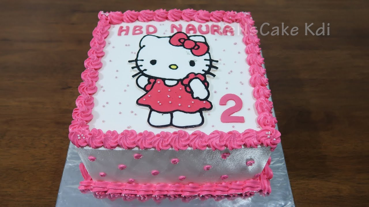 Birthday Cake For Girls Birthday Cake Character Hello Kitty Polkadots Cake Tart