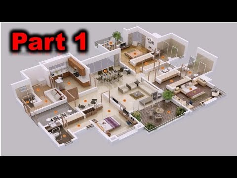 AutoCAD Complete 2D and 3D House Plan Part 1 | Autocad 2017 | 3Dlearners Academy