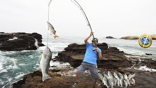 Woow ... Great #fish! Fisherman man uses a Magical bait, Engraved all in 4k