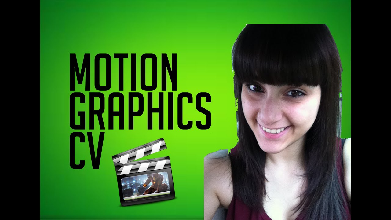 Motion Graphics Resume Motion Graphics Cv Youtube