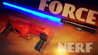 FUN Star Wars Lightsaber VS Nerf Gun