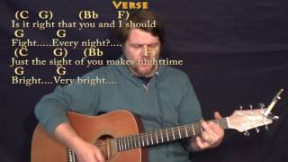 It's Only Love (The Beatles) Strum Guitar Cover Lesson with Chords/Lyrics