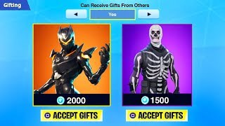 How To Send Gifts in Fortnite! How To Gift Skins Quadmft Fortnite (GIFTING SYSTEM UPDATE)