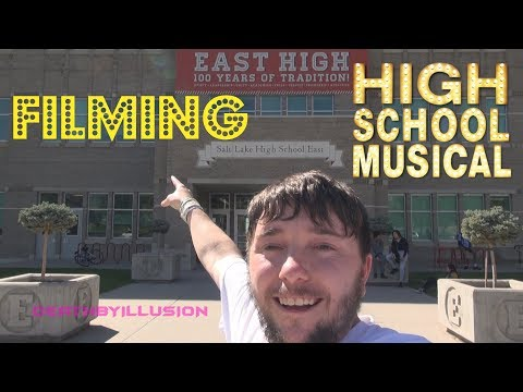 Filming Disney's High School Musical At The REAL East High