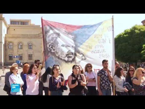 آلاف المتظاهرين المؤيدين لزعيم المعارضة يشلون يريفان والأزمة تتفاقم  - 17:22-2018 / 5 / 2