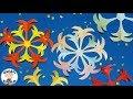 花火の切り紙 簡単な夏の折り紙【音声解説あり】Origami Fireworks / ばぁばの折り紙