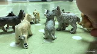 "The Flaming Sun Pack EP1 ""Trouble"" (Schleich wolf/dog Series)"