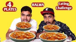 HALWA EATING CHALLENGE | Big Plates Halwa  Eating Competition | Food Challenge