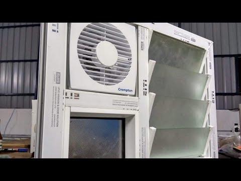 bathroom ventilator louver upvc window doors
