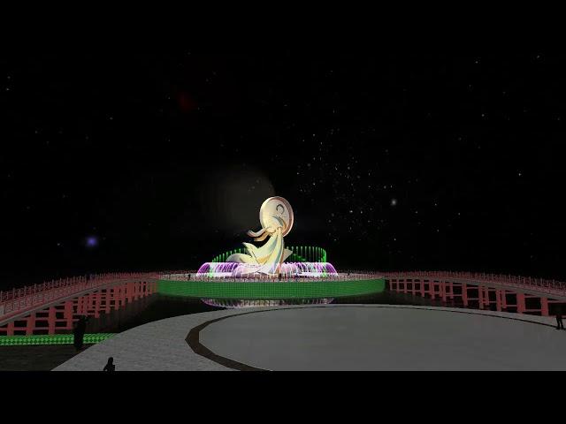 Mô hình 3D nhạc nước Bắc Ninh - Dancing fountain 3D Animation