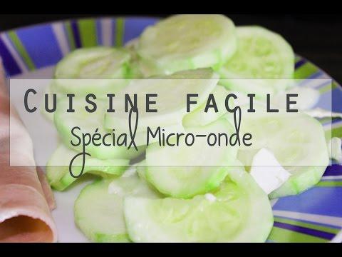 cuisine-facile-au-micro-ondes-|-courgette-au-chèvre