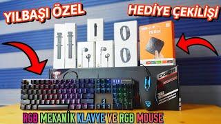 Yılbaşına Özel Büyük Hediyeler - Rgb Mekanik Klavye Ve Rgb Mouse Seti  ÇekİlİŞ