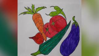 easy vegetables draw