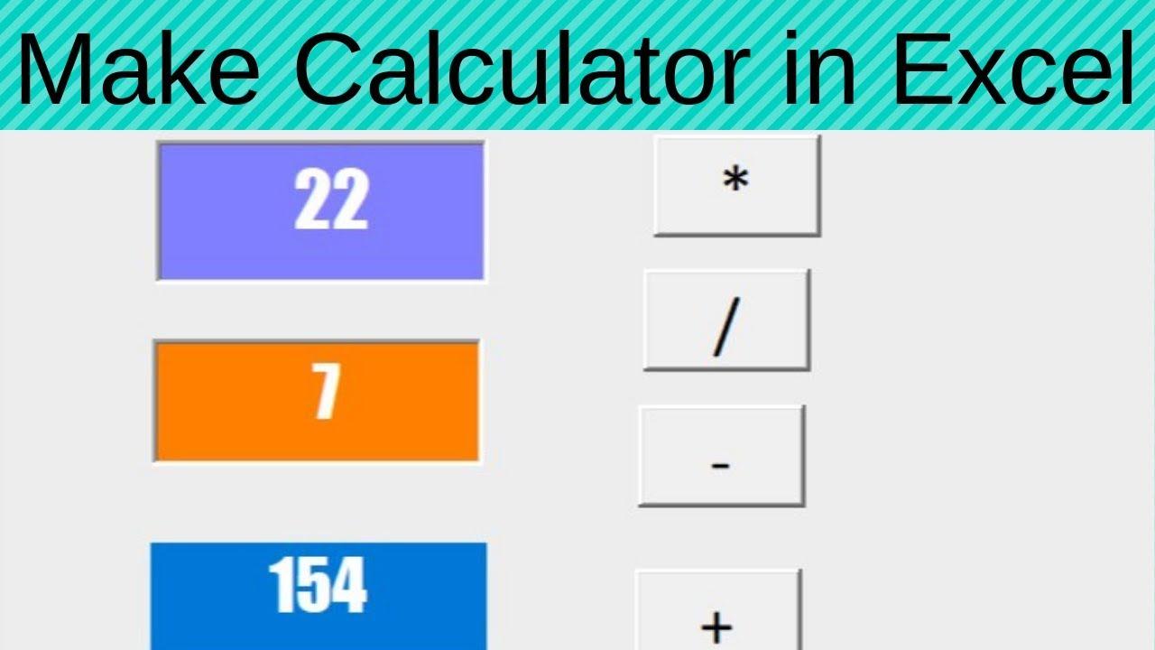 make calculator in excel
