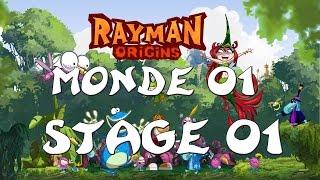 Rayman Origins - Monde 01 : Jungle a bafouilles - Stage 01 : Attrape-moi si tu peux !