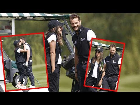 Jamie Dornan looked more in love than ever as he joined Amelia Warner at the ISPS Handa charity gold