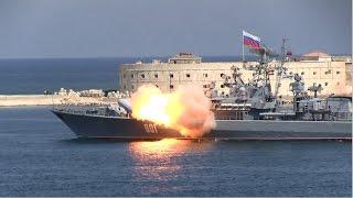 Неудачный запуск ракеты Севастополь с СКР Ладный Full HD(Frégate
