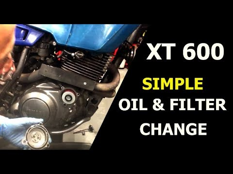 XT 600e: Simple Oil and Filter Change