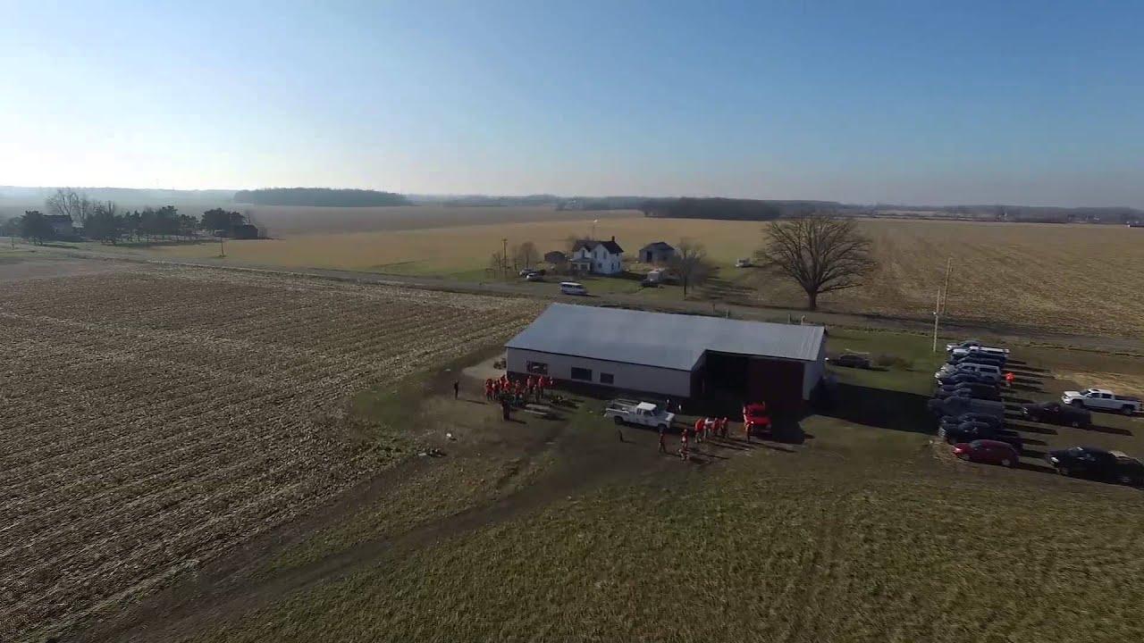 Drone Aerial Muzzy Pheasant Farm 12 6 2015 Corunna Michigan