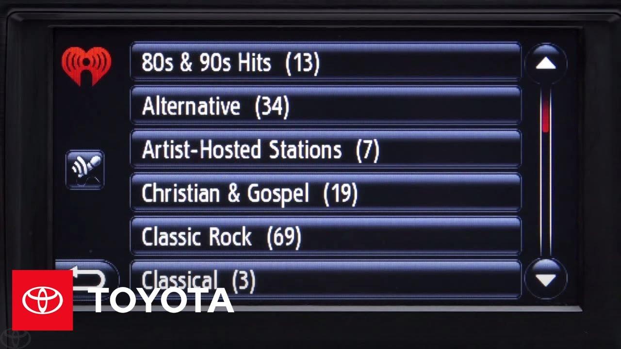Entune® - iHeartRadio | Toyota