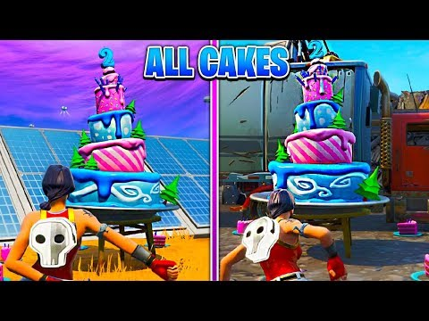 ALL BIRTHDAY CAKE LOCATIONS | FORTNITE 2nd BIRTHDAY EVENT! | Fortnite Battle Royale