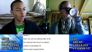 Repeat youtube video TWERKING on Chatroulette