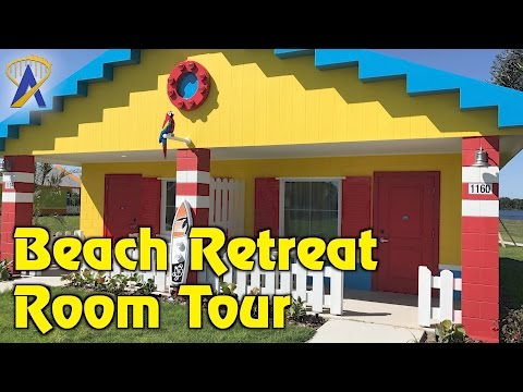 Legoland Beach Retreat bungalow room tour at Legoland Florida Resort