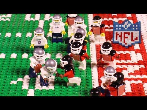NFL Super Bowl LI: New England Patriots vs. Atlanta Falcons | Lego Game Highlights