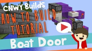 Minecraft BOAT DOOR!!! - How To Build