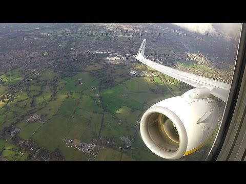 Awesome Engine Sound!! Takeoff Manchester on Ryanair Boeing 737-800