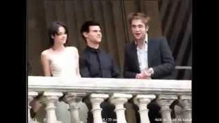Robert Kristen Taylor on balcony in Paris 2009