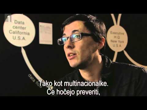 Paolo Cirio  about Loophole for All project on Slovenian national TV  RT SLO  2014