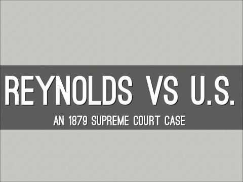 Warren Jeffs: Reynolds vs the United States