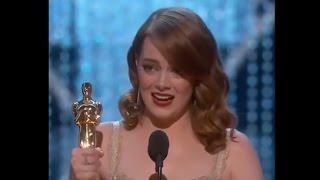 Emma Stone Oscars Speech for Best Actress Win | Oscars 2017
