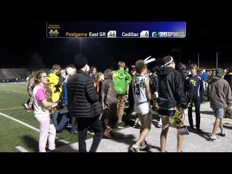 High School Football 10/28/16 Cadillac vs East Grand Rapids-Post-Game