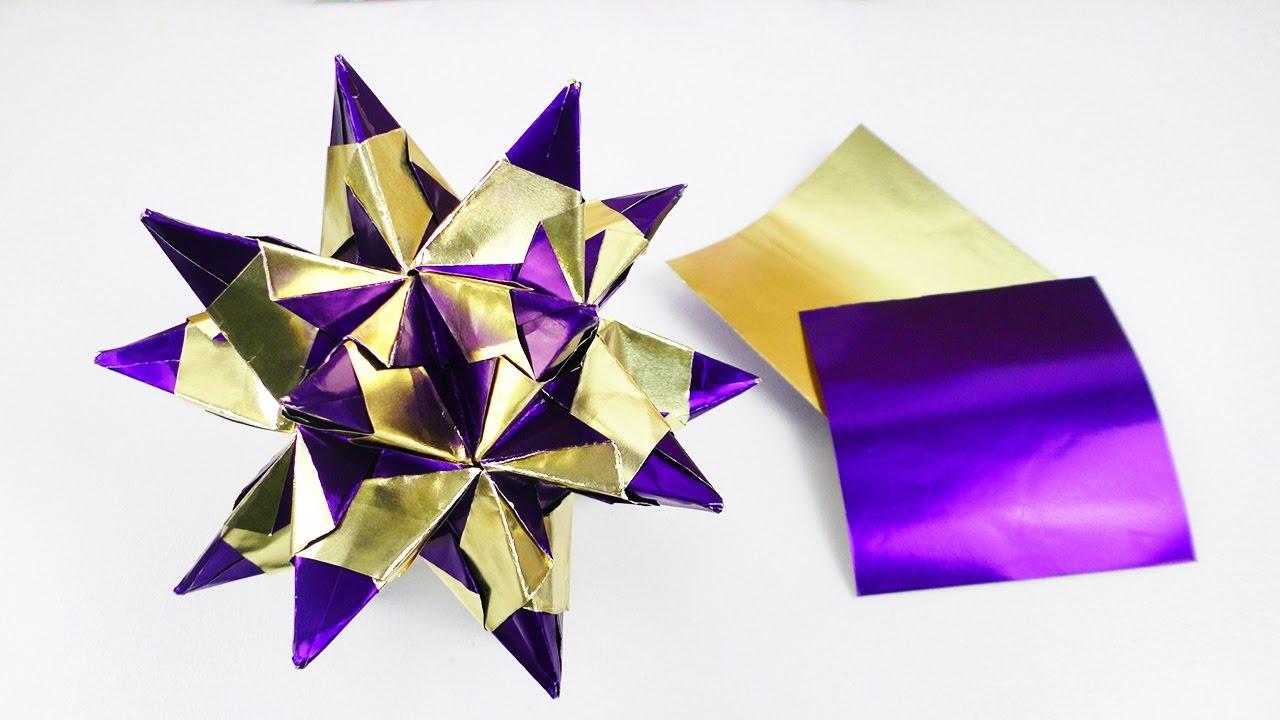 Weihnachtsbasteln Sterne Aus Goldpapier.Bascetta Stern Aus Alu Bastelfolie Super Schöne Deko Idee Für Weihnachten Tolles Diy Geschenk