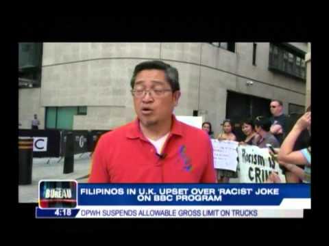 Filipinos in UK upset over 'racist' joke on BBC program