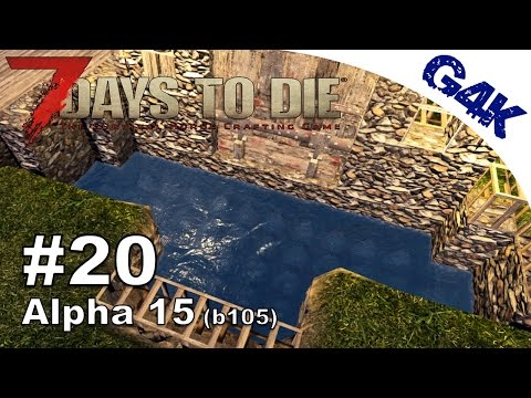 7 Days To Die | Mining Iron & Watering a Moat | 7 Days to Die Gameplay Alpha 15 | S09E20