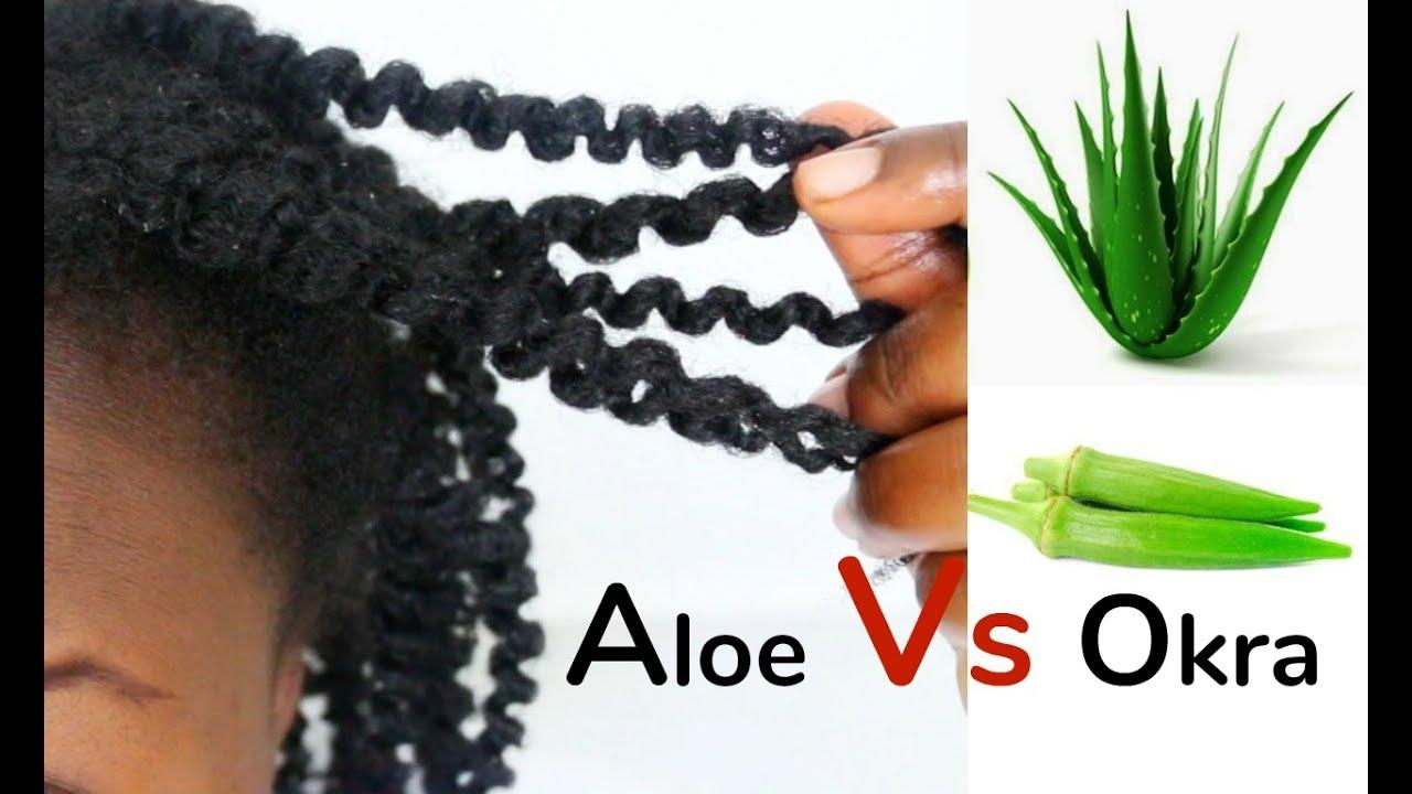 Aloe Vera Gel Vs Okra Gel Twist Out On