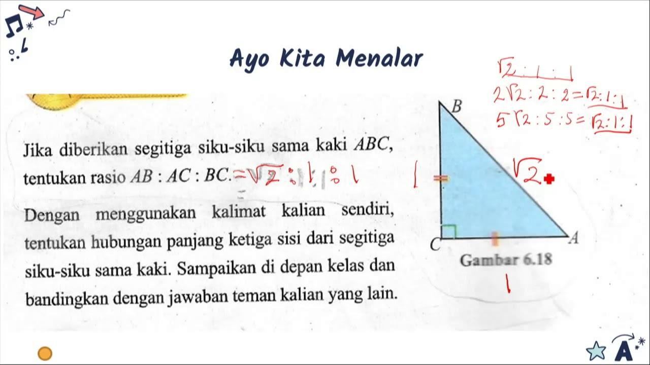 Teorema Pythagoras   Menemukan Perbandingan Sisi sisi pada ...