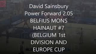 DAVID SAINSBURY GARCIA POWER FORWARD 2,05 m in BELFIUS MONS HAINAUT (1ST DIV. BELGIUM & EUROPE CUP)