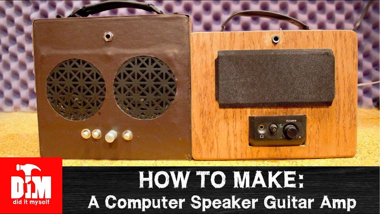 How to make: Guitar Amp From Old Computer Speakers
