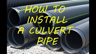 How to Install a Culvert Pipe Under a Dirt Road