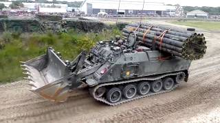 Terrier Armoured Digger advanced engineering vehicle  - Tankfest 2016